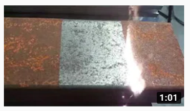 Rust on Metal being removed by Laser Cleaning