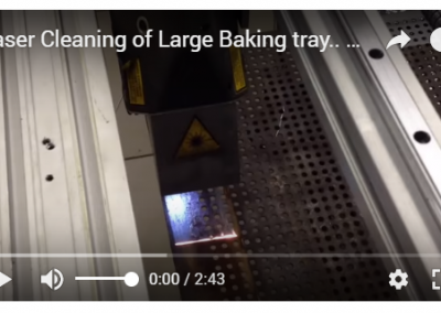 Laser Cleaning of Large Baking tray